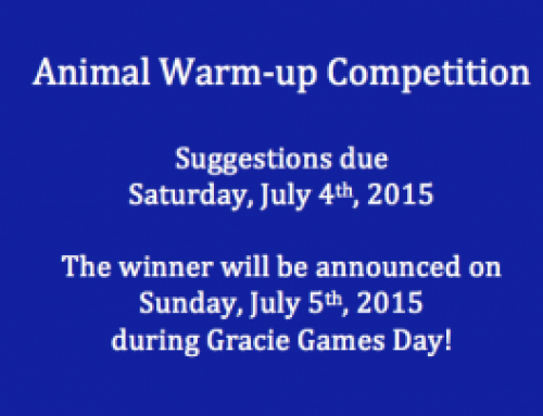 Animal Warm-up Competition